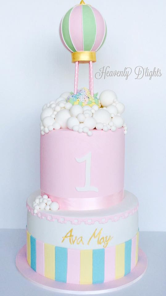 Heavenly Dlights Hot Air Balloon Cake