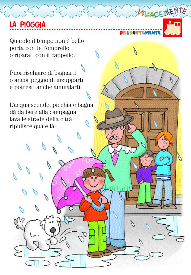 spesso VIVACEMENTE con il cuore e con la mente: Filastrocca della pioggia IK38