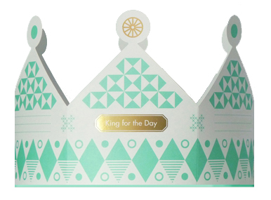 King of the Day Crown Card from Present&Correct