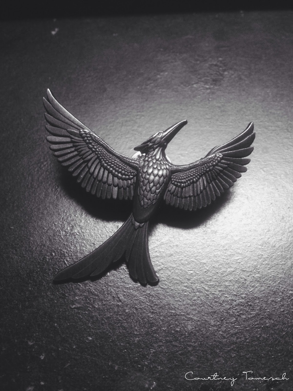 Courtney Tomesch Mockingjay pin