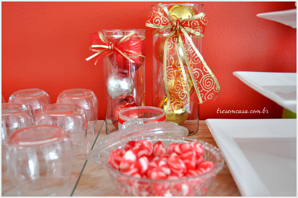 enfeites mesa natal