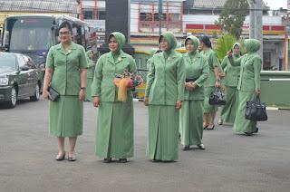 Ketua Persit KCK Pangdam IV/Diponegoro Kunjungi Persit Kodim 0712/Tegal
