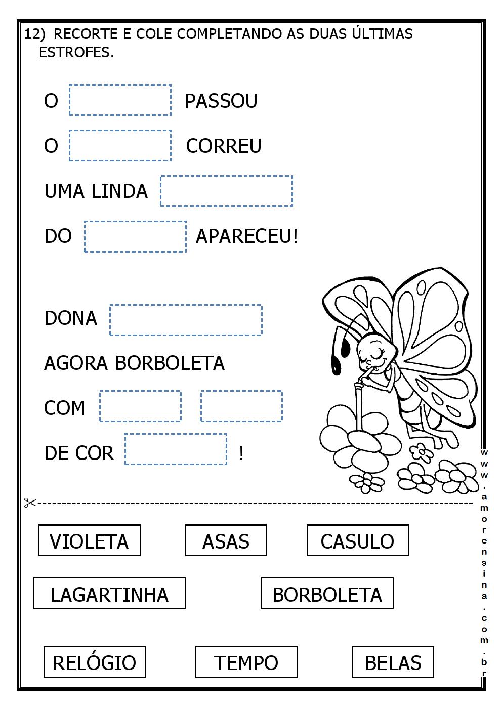 Famosos LAGARLETA - ( DE LAGARTA A BORBOLETA) - INTERDISCIPLINAR - 1º ANO  XF68