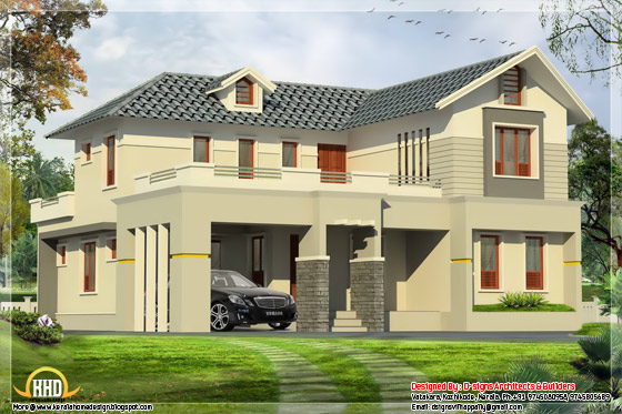 2800 sq ft. 4 bhk home design