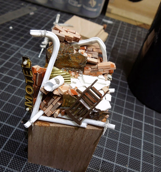 Massive Voodoo: Tutorial: Building up a Wasteland Display base         |          Mis Olvidadas Figuras