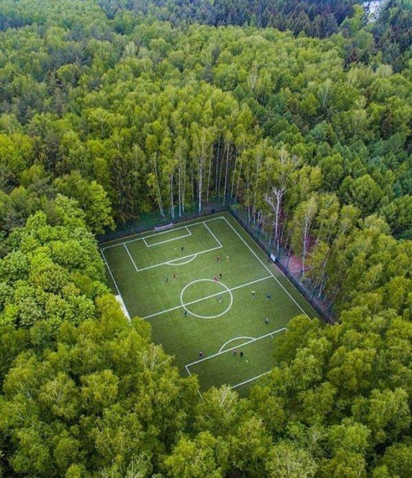Hình ảnh hài hước về sân bóng đá