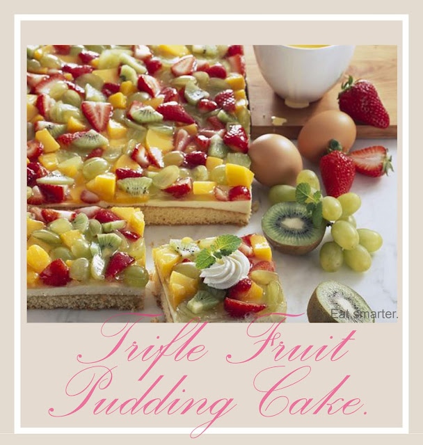 Colorful Trifle Fruit Pudding cake recipe