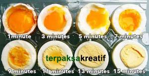 Cara membuat telur rebus setengah matang cantik