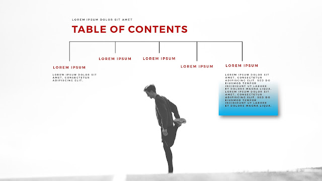 Table of Contents using Sports Man photo image for PowerPoint Presentation