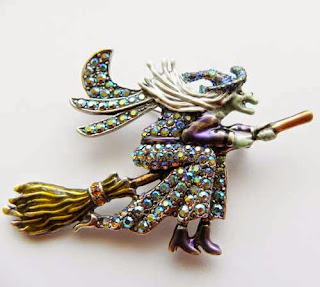 Witch brooch by Kirks Foley