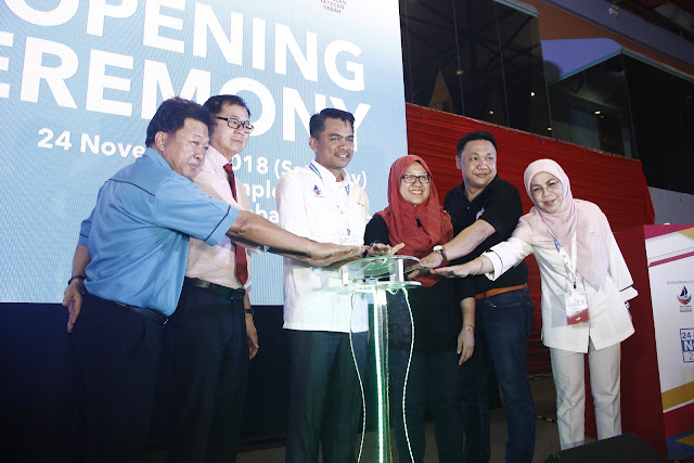 Opening ceremony; Sabah Job & Entrepreneur Fair 2018 @ Kompleks Sukan Kota Kinabalu (Likas)
