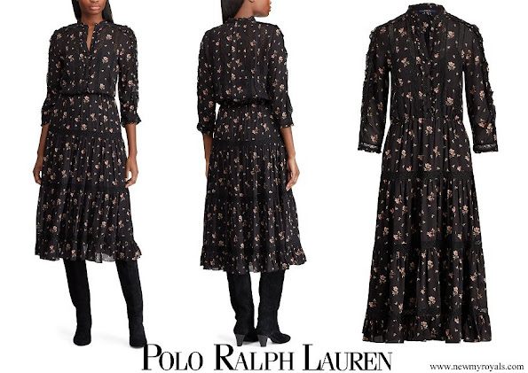Princess Charlene wore POLO RALPH LAUREN Floral Georgette Dress