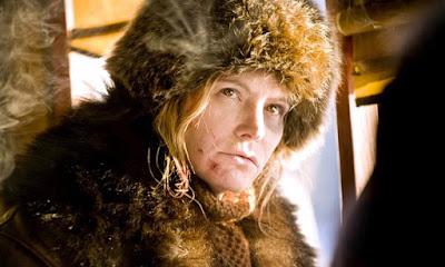 Jennifer Jason Leigh est Daisy Domergue dans Les 8 salopards, de Quentin Tarantino (2015)