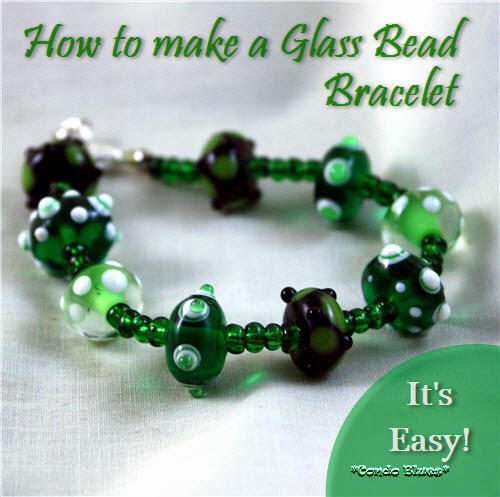 how to make an easy lampwork glass bead bracelet