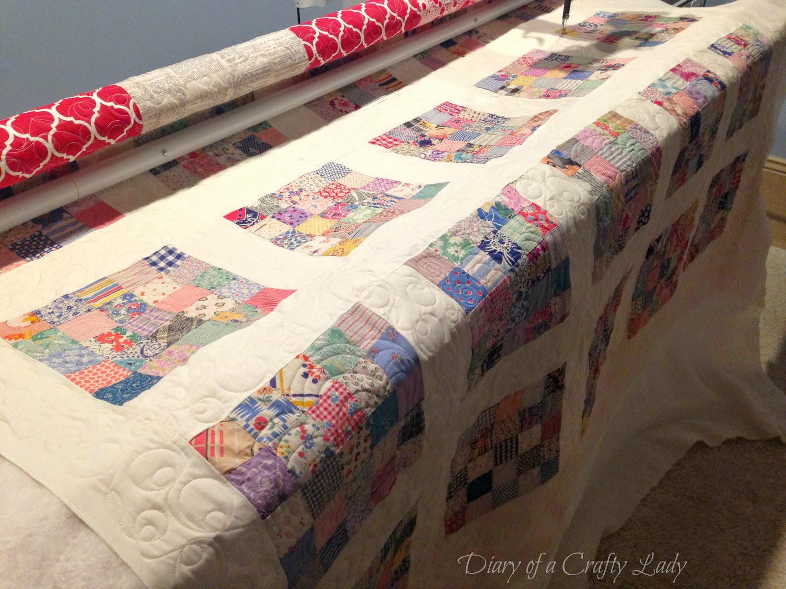 Diary of a Crafty Lady Antique Quilt Top Now a Finished Quilt