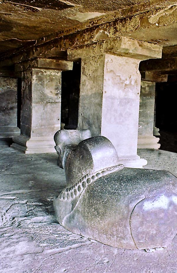 Nandi idol at Ajanta caves