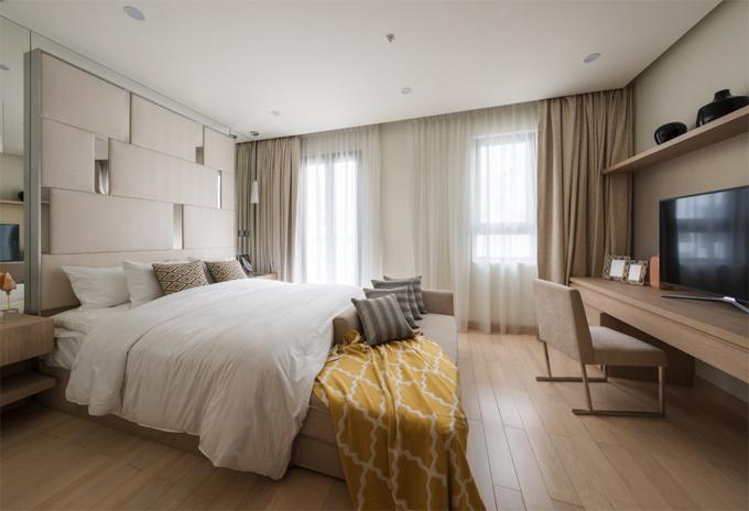 Phòng ngủ căn nhà phố