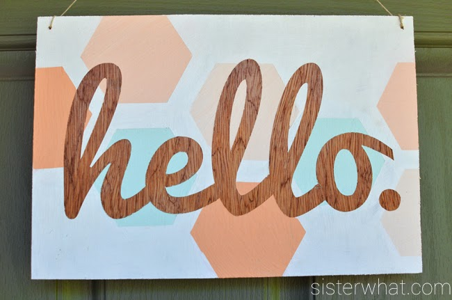diy wood hello sign home