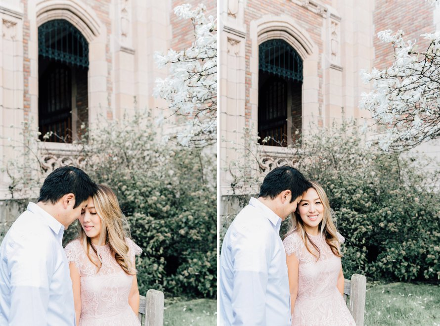 Cherry Blossom Engagement Session by Seattle Wedding Photographer Something Minted