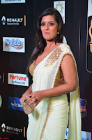 Varalakshmi in Cream Saree Sleeveless Backless Deep Neck Choli at IIFA Utsavam Awards March 2017 021.JPG