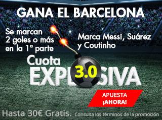 suertia promocion 30 euros Barcelona vs Villareal 9 mayo