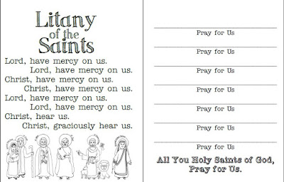 Look to him and be radiant 12 ideas for celebrating all saints day one side of the prayer cards on the other side they get to create their own all star cast oh and well be listening to this song this week as well m4hsunfo