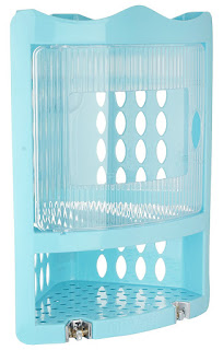 Amazon – Buy Nayasa Corner Rack, Small, Blue at Rs.194