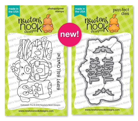 Halloween Trio Stamp and Die Sets by Newton's Nook Designs #newtonsnook