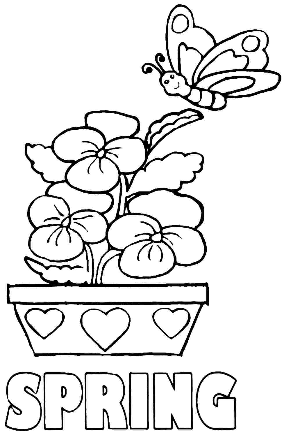 Unique Wel e Spring Coloring Pages Library Coloring