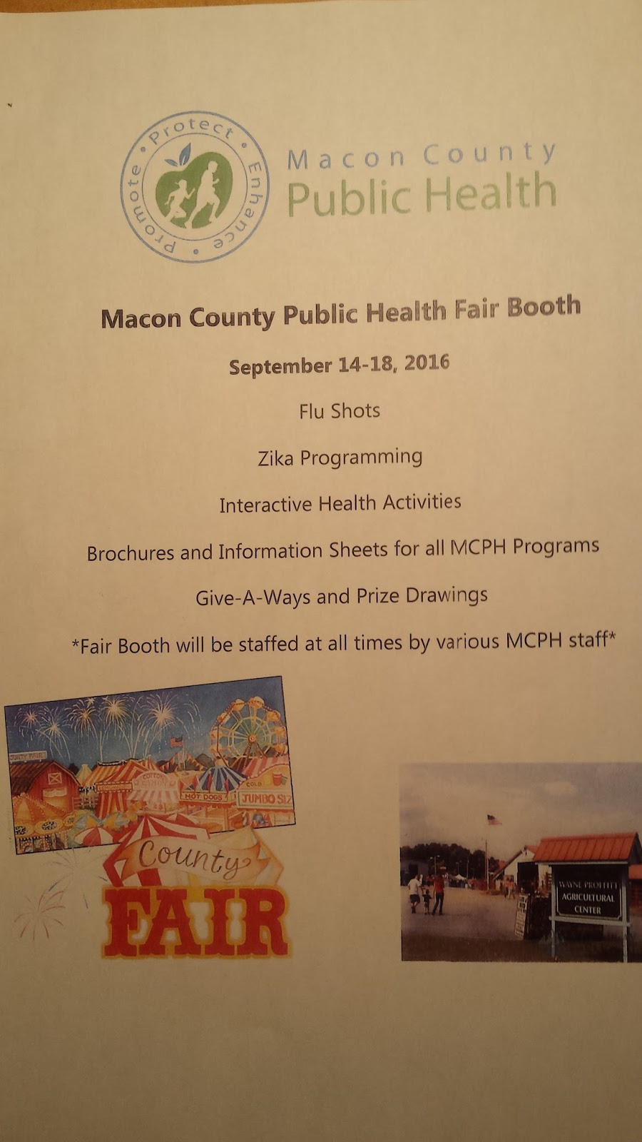 Board of Health at the Macon 2016 County Fair