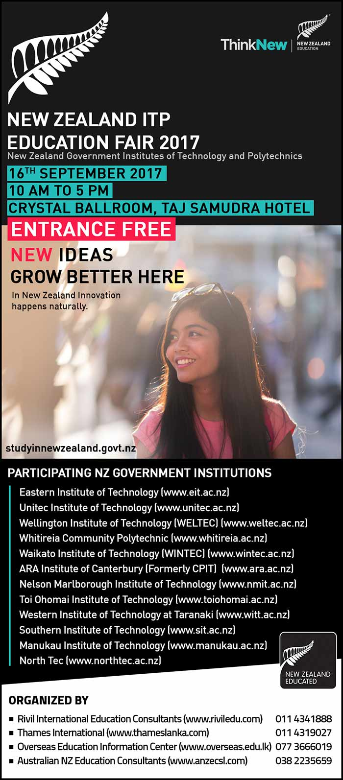 Rivil | Visit the NZ ITP Education Fair - Discuss your study options from NZ Government representatives.