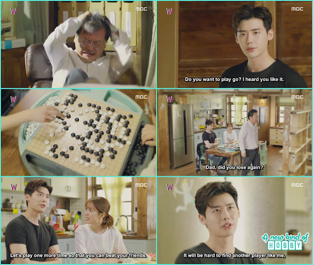 kang chul played go game with writer sung moo - W - Episode 13 Review - The Hypothesis & Unexpected Twist