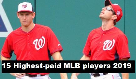 Top 15 Highest-paid MLB players in 2019, Scherzer, Strasburg on Top List.