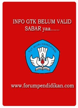 Permasalahan Info GTK Belum Valid, Harap Bersabar