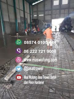 Jasa trowel cor floorhardener poles beton