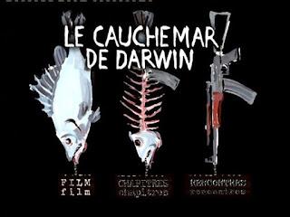 cette image est l'affiche du film documentaire le cauchemar de Darwin, un reportage d'une violence émotionnelle intense car il décrit la misère quotidienne qui sévit en Tanzanie