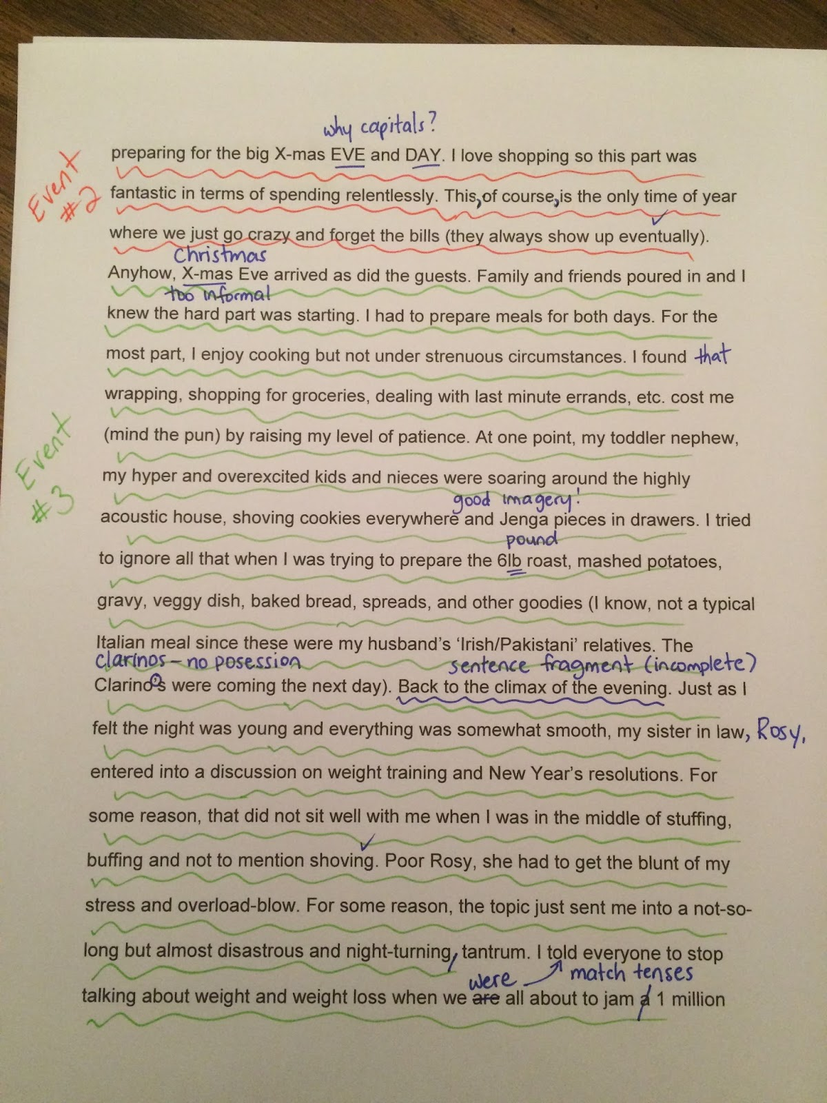 7d Class Blog Holiday Recount Example Of Brainstorming
