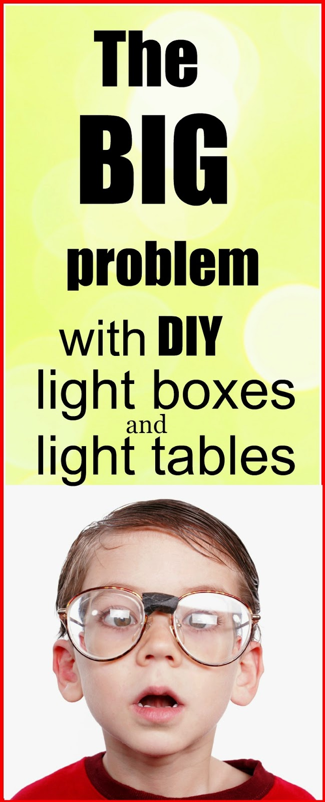 The BIG problem with DIY light boxes and light table