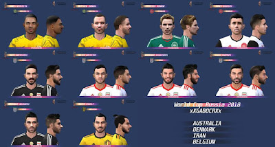 PES 6 Facepack World Cup 2018 by Gabo CR Facemaker