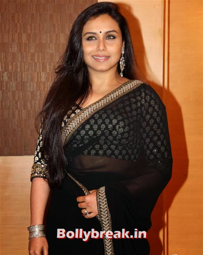 Rani Mukherjee in Black Saree, Bollywood Beauties at Yash Chopra Memorial Awards