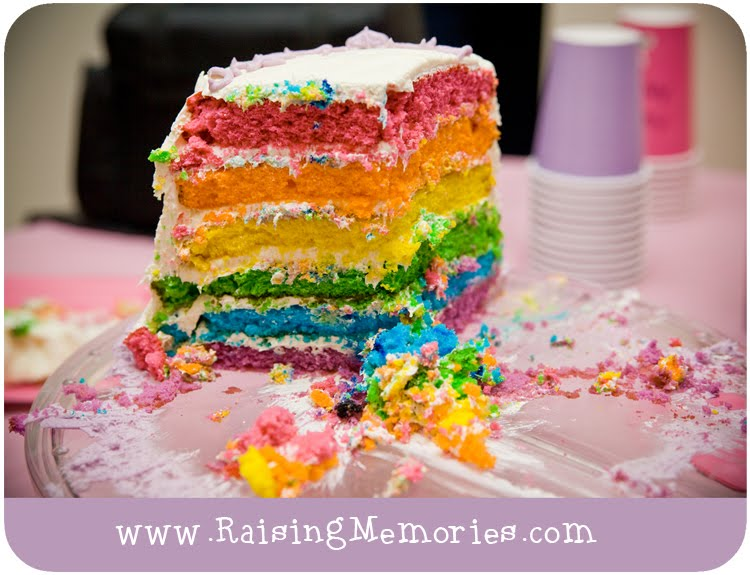 easy to make rainbow cake