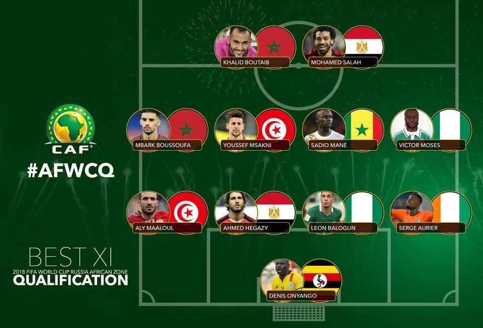 مصريان فى تشكيلة افضل لاعبي القارة لتصفيات مونديال كاس العالم