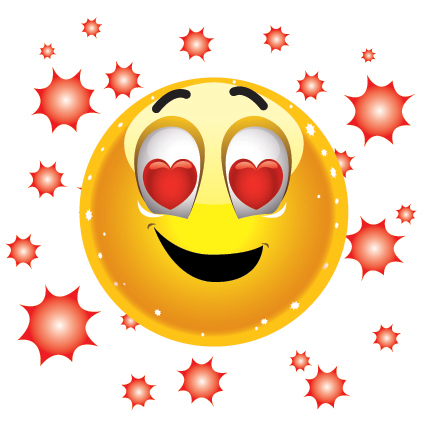 Groovy love emoticon