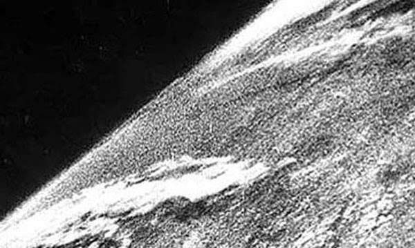 Rarest Historical Photos, That you can Never Forget. - The very first photo of Earth, from space in the year 1946