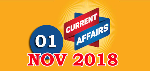 Kerala PSC Daily Malayalam Current Affairs 01 Nov 2018