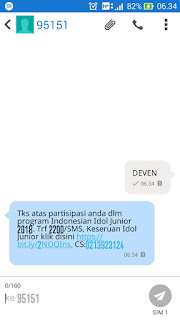 cara vote sms indonesian idol junior