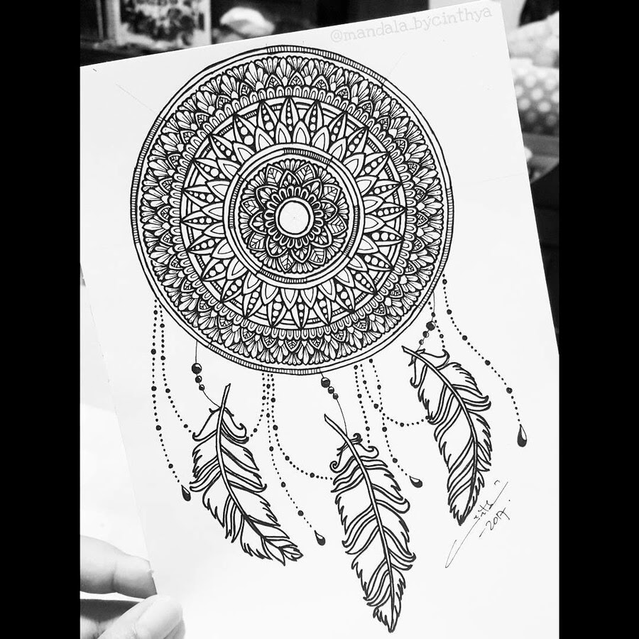 05-Dream-Catcher-Bycinthya-Mandala-Designs-www-designstack-co