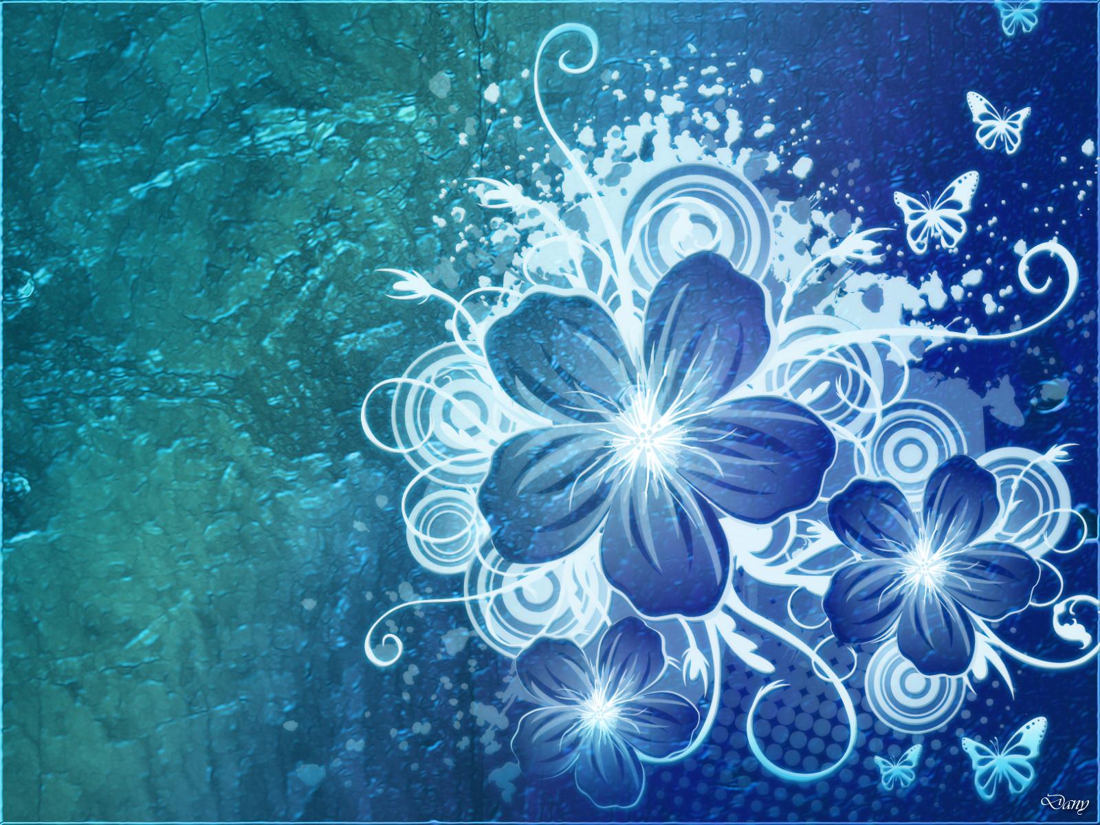 Laptop Wallpaper Hd 3d Blue Flower Wallpapers Asimbaba Free Software Free