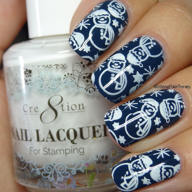 BornPrettyStore BP-L056, Cre8tion White Stamping lacquer & Bundle Monster Mini Dual Ended Clear Stamper