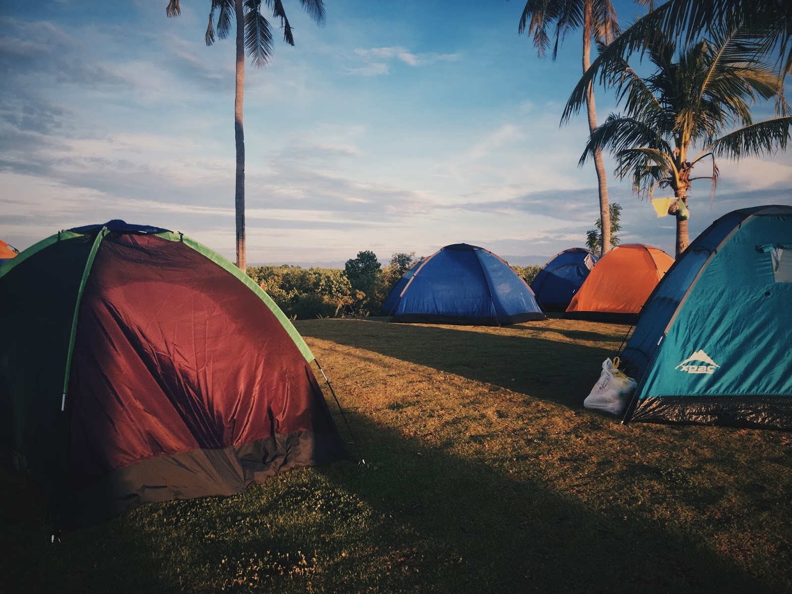The contrast of colors of the tents and the lush greens of the bermuda made the area appealing. The bermuda also served as a perfect cushion for our tents. & Is Payag sa Asinan Eco-tourism in Olango Island a yay or nay ...